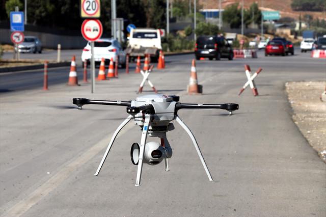 HATAY'DA DRONE DESTEKLİ TRAFİK UYGULAMASI